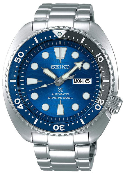 Seiko Special Edition Prospex Stainless Steel Blue Dial Automatic Day-Date Divers Mens Watch SRPD21K1