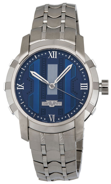 Dewitt Glorious Knight Automatic Steel Mens Watch Blue Dial FTV.HMS.003.S