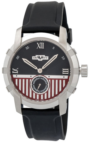 Dewitt Glorious Knight Automatic Stainless Steel Mens Strap Watch FTV.PTS.001.RPB