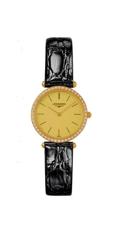 Longines La Grande Classique Agassiz 18kt Gold & Diamond Womens Strap Watch L4.191.7.32.2