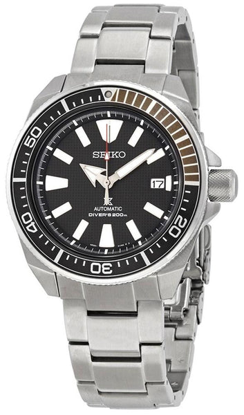 Seiko Prospex Automatic Stainless Steel Black Dial Date Divers Mens Watch SRPB51K1