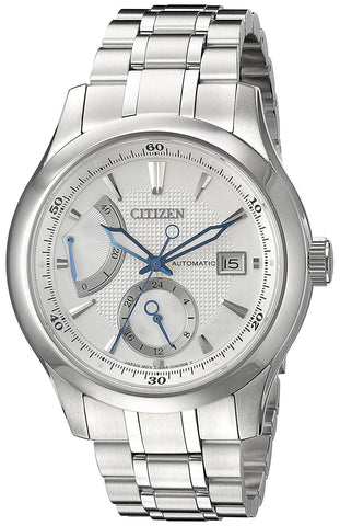 Citizen Signature Automatic Grand Classic Stainless Steel Silver Dial Date Mens Watch NB3010-52A