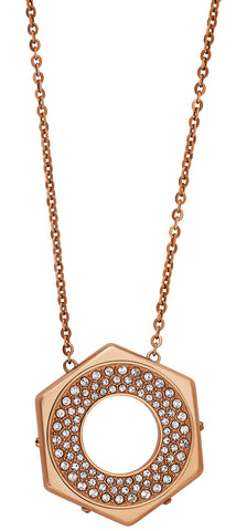 Swarovski Bolt Pendant 5073124 Crystal Pave Rose Gold Tone Reversible Necklace for Women