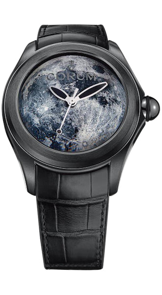 Corum Bubble 47 Solar System Moon Limited Edition Black PVD Steel Mens Automatic Watch 082.310.98/0001 MO01