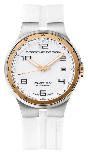Porsche Design Flat Six Automatic Stainless Steel Mens White Watch Calendar 6351.47.64.1256