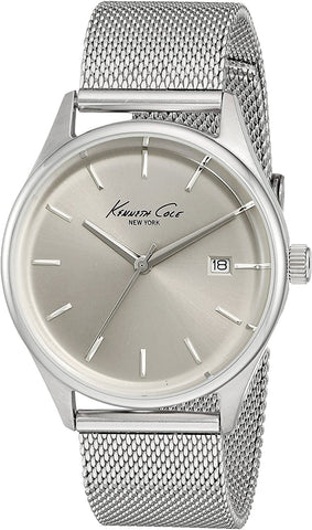 Kenneth Cole New York Silver Dial Date Stainless Steel Mesh Women's Watch 10029399