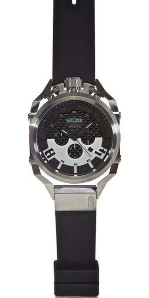 Welder by U-boat K36 Chronograph Stainless Steel Mens Watch Rubber Strap K36-2403