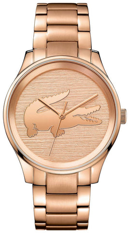 Lacoste Victoria Rose Gold Plated Stainless Steel 2001015 Women's Watch Quartz