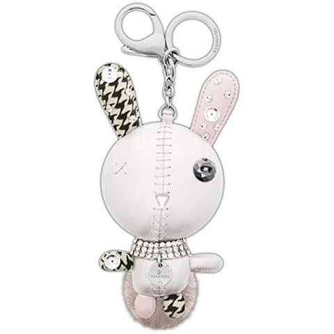 SWAROVSKI Crystal Authentic Mathilde Stainless Steel Grey Rabbit Bag Charm