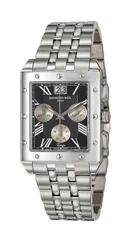 Raymond Weil Tango Chronograph Stainless Steel Mens Watch Date 4881-ST-00209