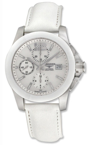 Longines Conquest Automatic Chronograph Steel & Ceramic Mens Watch Date L3.661.4.86.0