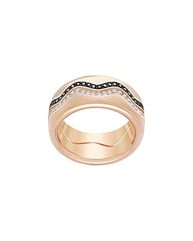 Swarovski Crystal Plated Stainless Steel Ring, 7.25