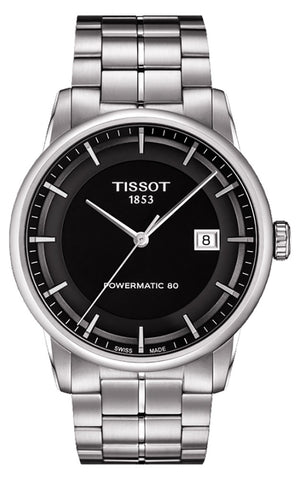 Tissot Luxury Stainless Steel Automatic Black Dial Date Mens Watch T0864071105100