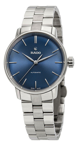 Rado Coupole Classic S Blue Dial Stainless Steel Automatic Womens Watch R22862203