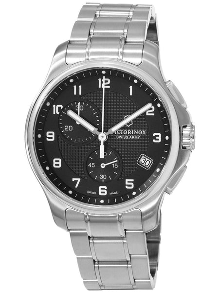 Swiss Army Classic Officer's Chronograph Quartz Steel Mens Watch 241592