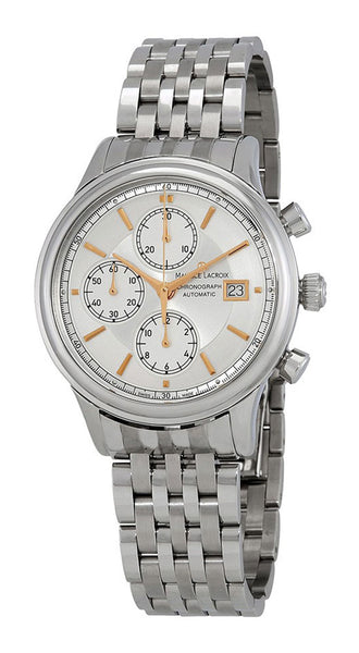 Maurice Lacroix Les Classiques Automatic Chronograph Mens Watch Silver Dial Date LC6158-SS002-130-1