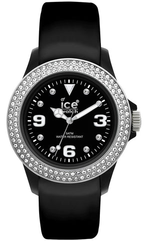 Ice-Watch Stone Tycoon Swarovski Crystals Black Polyamide & Steel Unisex Strap Watch ST.BS.U.L.10