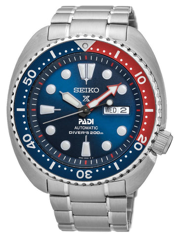 Seiko Special Edition Prospex Automatic Stainless Steel Blue Dial Day-Date Divers Mens Watch SRPA21K1