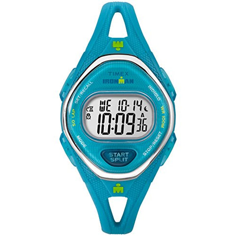 Timex Women's TW5M13500 Ironman Sleek 50 Teal Silicone Strap Watch