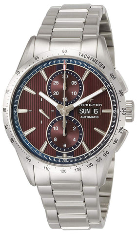 Hamilton Broadway Automatic Chronograph Stainless Steel Burgundy Dial Day/Date Mens Watch H43516171