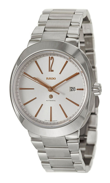 Rado D-Star XL Automatic Stainless Steel Mens Watch Silver Dial Calendar R15329113