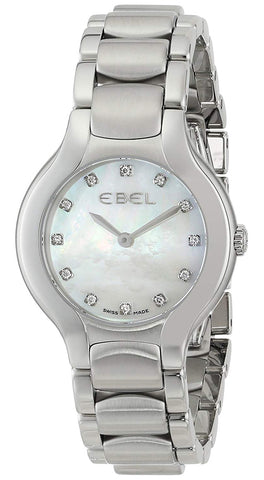 Ebel Beluga Mother of Pearl Stainless Steel 1216038 Quartz Diamond Dial Womens Watch