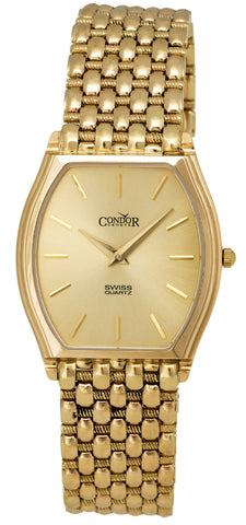 Condor 14kt Gold Mens Luxury Swiss Watch Quartz GS21003