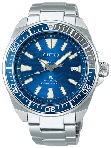Seiko Special Edition Prospex Stainless Steel Blue Dial Automatic Date Divers Mens Watch SRPD23K1