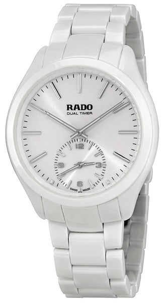 Rado HyperChrome XL White Ceramic Quartz Analog White Dial Dual Timer Men's Dress Watch R32113102