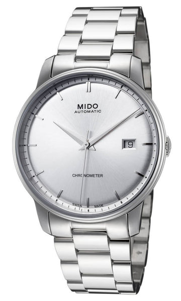 Mido Baroncelli III Automatic Stainless Steel Chronometer Silver Dial Date Mens Watch M010.408.11.031.00