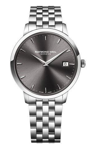 Raymond Weil Toccata Stainless Steel Gray Dial Date Quartz Mens Watch 5488-ST-60001