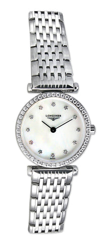 Longines La Grande Classique Stainless Steel & Diamond Womens Luxury Watch MOP L4.241.0.80.6