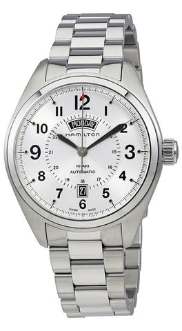 Hamilton Khaki Field Day Date Automatic Stainless Steel Silver Dial Mens Watch H70505153