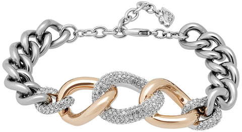 Swarovski Bound Crystal Pavé Chain Stainless Steel Link Bracelet for Women 5080042