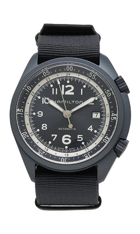 Hamilton Khaki Aviation Pilot Pioneer Automatic Blue Aluminum Canvas Strap Men's Watch Date H80495845