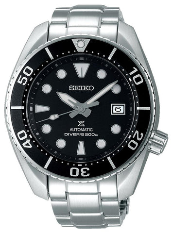 Seiko Prospex Automatic Stainless Steel Black Dial Date Divers Mens Watch SPB101J1