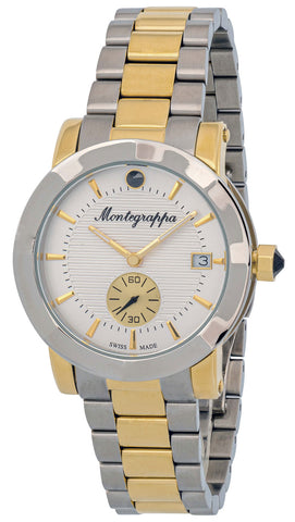 Montegrappa Nerouno White Dial Date Two Tone Stainless Steel Quartz Women's Watch IDLNWA18_Y