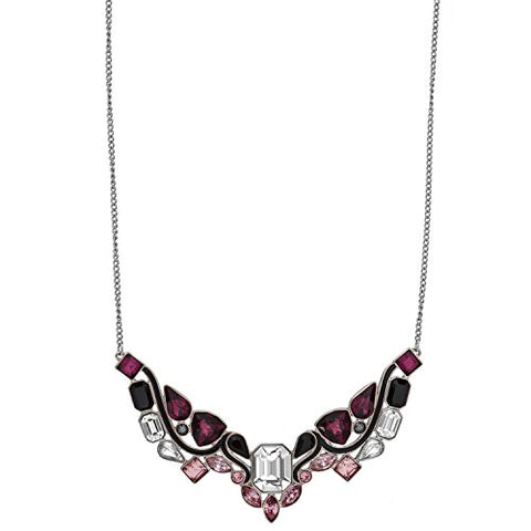 Swarovski Impulse 5152835 Multi Color Crystal Rhodium Plated Bib Necklace