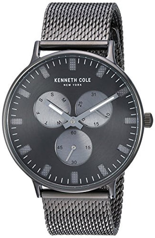 Kenneth Cole New York Men's Sport' Quartz Stainless Steel Dress Watch, Color:Grey (Model: KC14946015)