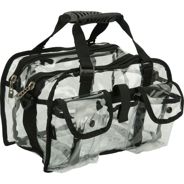 MEDIUM Clear Makeup Bag with shoulder strap