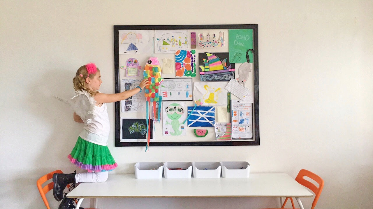 showcase your child's creativity in one organised space