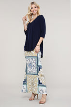 Load image into Gallery viewer, Ivory and Blue Abstract Maxi Skirt