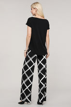 Load image into Gallery viewer, Black and Ivory Windowpane Palazzo Pants