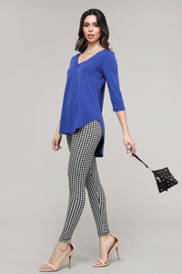 Black & Ivory Houndstooth Leggings