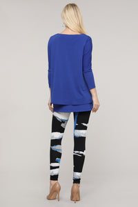 Black and Blue Abstract Leggings