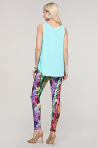 Multicolor Abstract Leggings