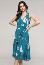 Load image into Gallery viewer, Floral Sleeveless Surplice Dress