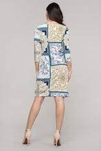 Load image into Gallery viewer, Three-Quarter Sleeved Boatneck Dress