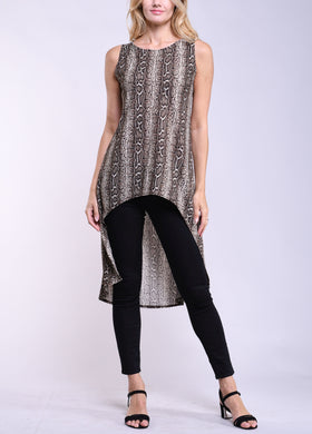 Animal Abstract Hi-Low Tunic