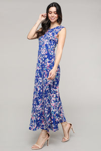 Floral Sleeveless Side Slit Maxi Dress